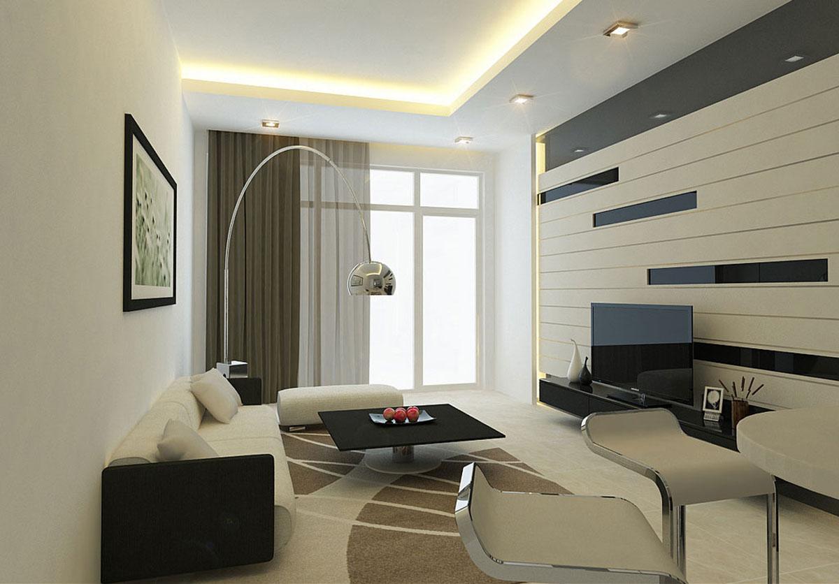 Современный декор интерьера гостиной