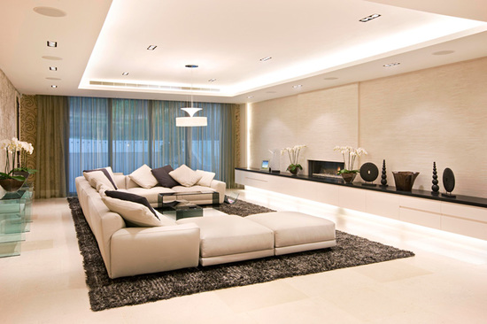 освещение гостиной комнаты