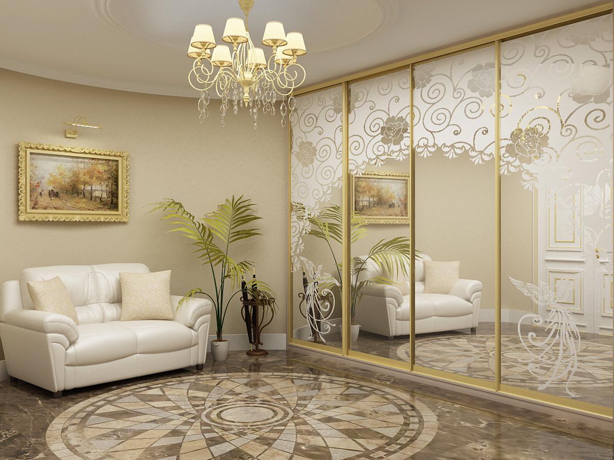 Шкаф купе в гостиную дизайн интерьера