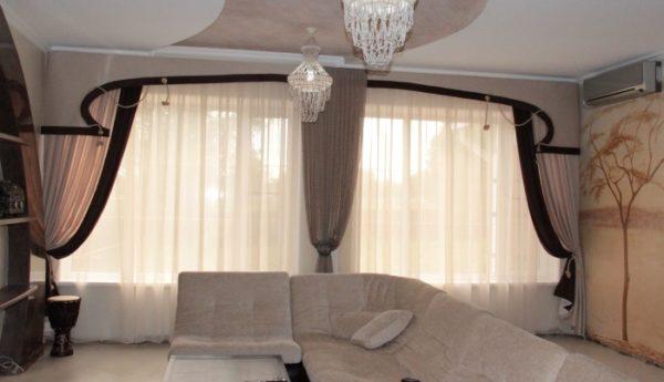 декор из штор для гостиной