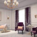 оригинальные шторы в дизайне гостиной комнаты