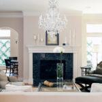 современный интерьер гостиной комнаты в светлых тонах