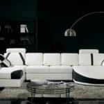 модульная мягкая мебель в интерьере гостиной комнаты