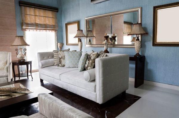 зеркала в современном дизайне гостиной