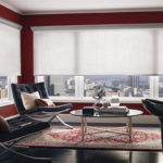 шторы плиссе в интерьере современной гостиной