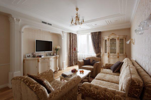 мягкий гарнитур и классическая мебель