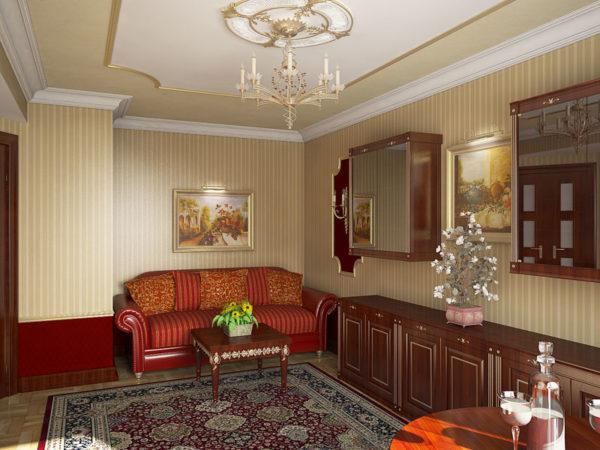 изысканная классика гостиной