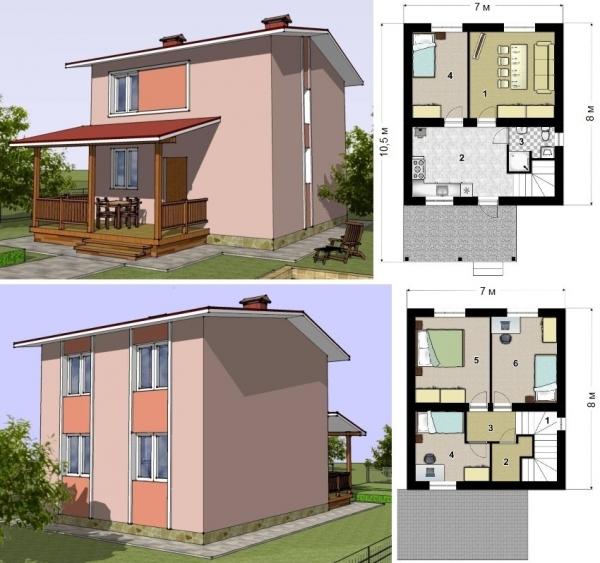 Проекты каркасных домов: фото и цены, особенности строительства