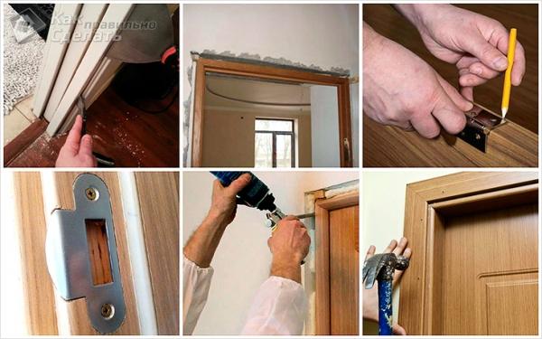 Установка межкомнатных дверей своими руками — как установить (пошаговая инструкция)