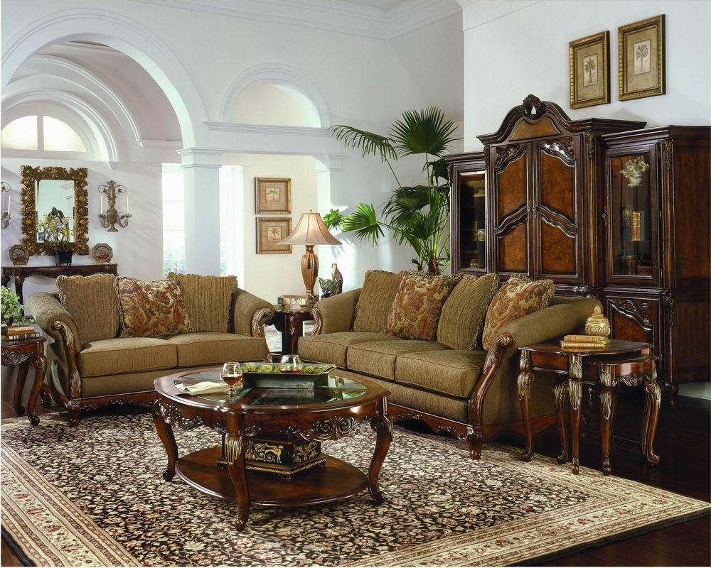 Ковер в интерьере гостиной в классическом стиле фото