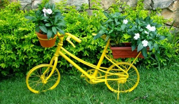 Велосипед кашпо с цветами 77