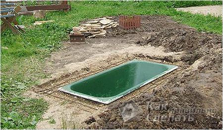 Как пошагово сделать пруд из ванны своими руками