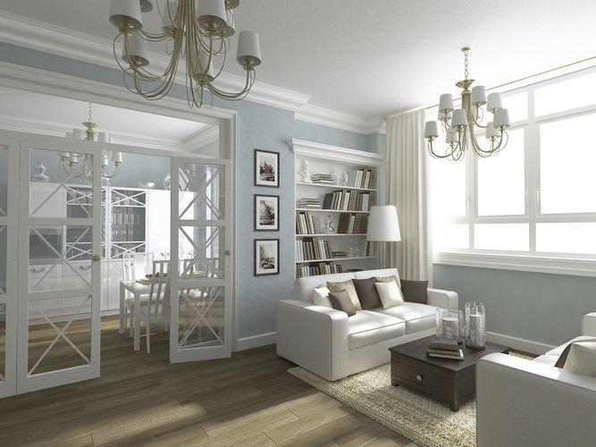 Гостиная современная классика дизайн