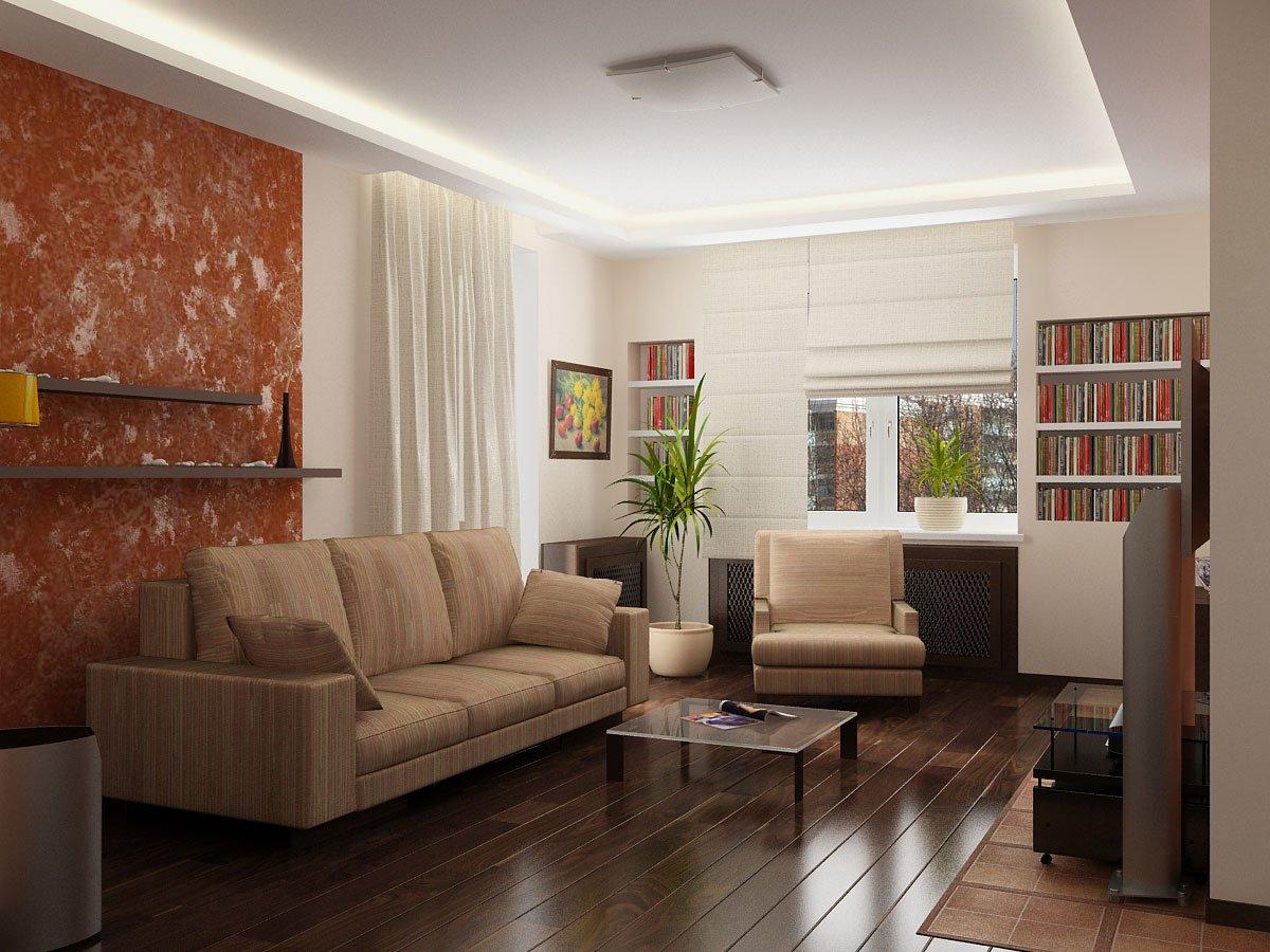 Интерьер гостиной для 18 кв.м проходная
