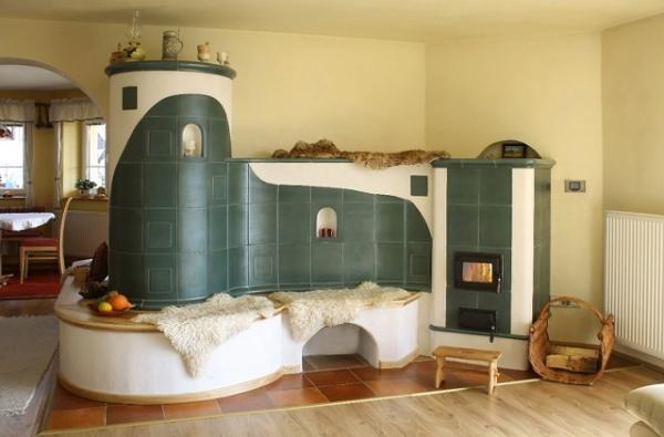 Печка в доме: 100 фото дизайна в интерьере