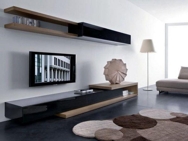 стенка под телевизор в гостиную яркие фото особенности
