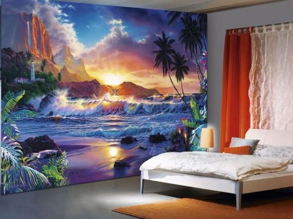 Оформление стен в спальне: способы облицовки и варианты декора