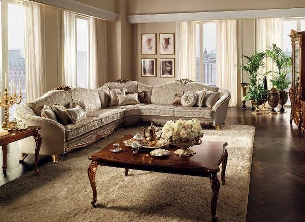 Мебель в гостиной должна быть уютной и красивой