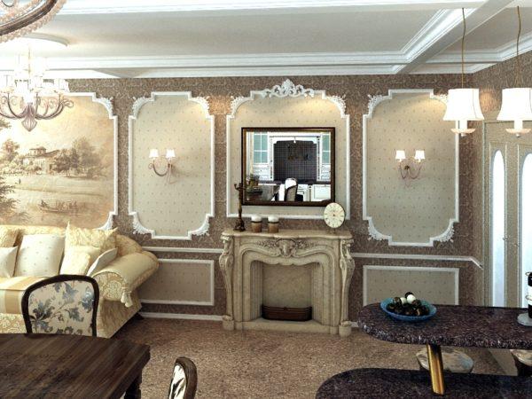 Багеты и правильное освещение сделают комнату больше