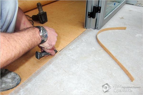 Как настелить линолеум на бетонный пол