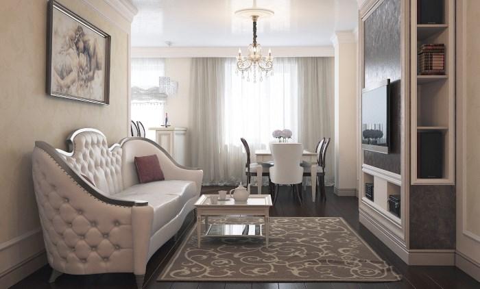 Дизайн комнаты в тёплых тонах