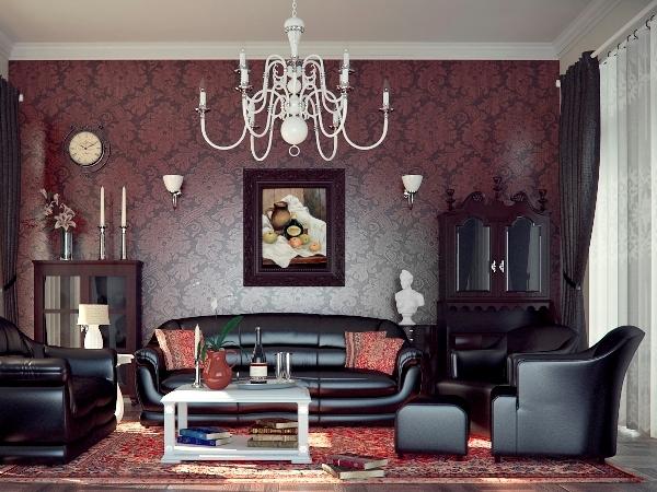 Гостиная в стиле арт-деко: шикарно, элитарно, художественно