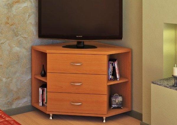 Комод, шкаф, стол, полки и другая мебель под телевизор в интерьере гостиной: красочные фото и полезные советы