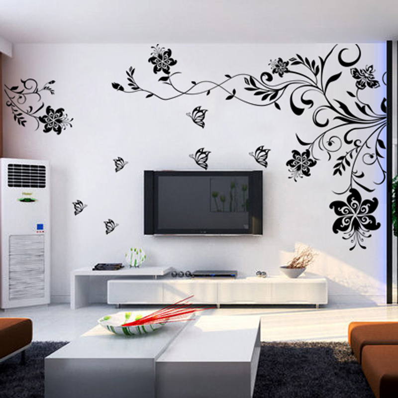 Фото гостиных с рисунками на стене