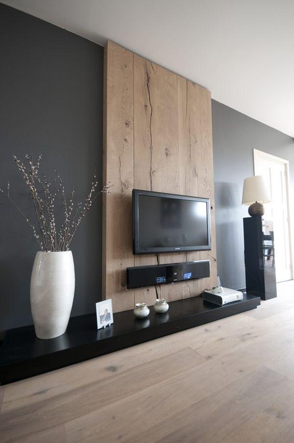 Деревянная плита для телевизора