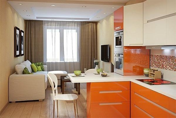расположение мебели в маленькой кухне