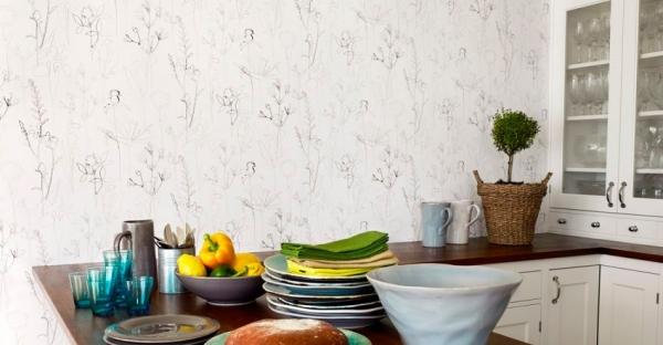 Моющиеся обои для кухни: каталог фото-идей для создания интерьера