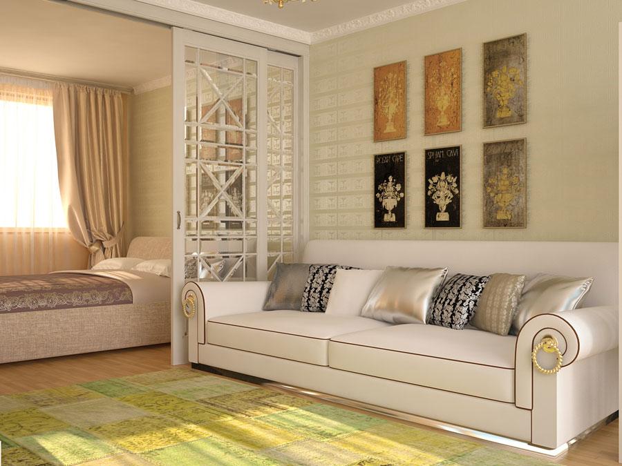 Дизайн спальни гостиной 17 кв м