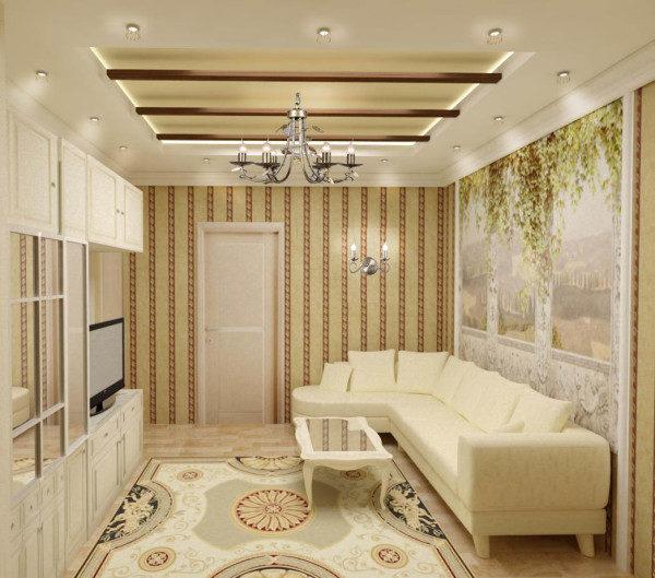 Красиво оформить можно даже очень маленькую гостиную