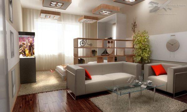 гостиная и детская в одной комнате 18 кв м 51 фото
