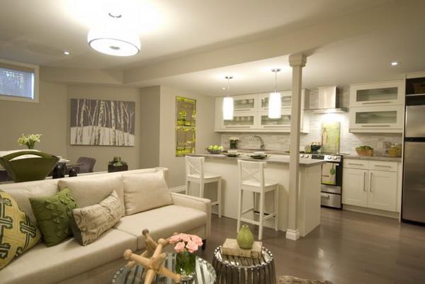 цвет, мебель, техника в кухне