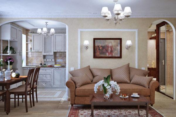 """арки в гостиной в стиле """"классика"""" и """"романтическая"""""""