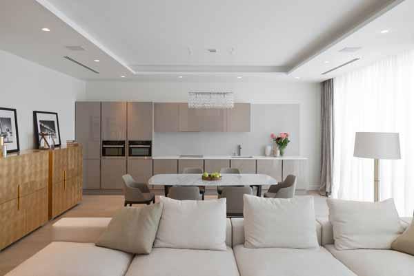 зонирование кухни-гостинной