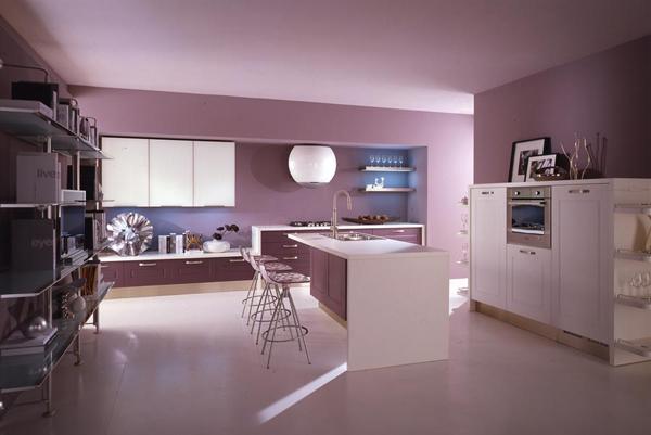 сиреневый и фиолетовый в кухне