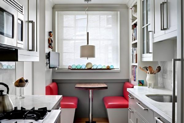 минимум мебели в маленькой кухне