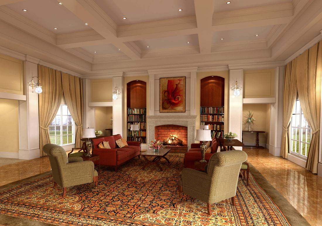 Гостиная в стиле современная классика — фото интерьеров
