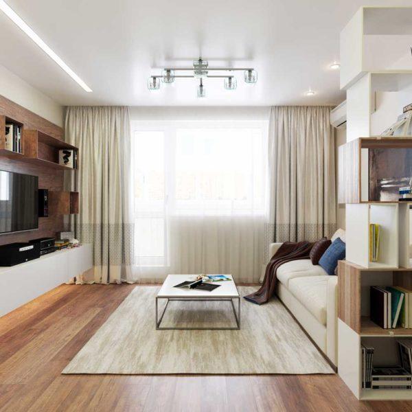 Идея гостиной 16 кв.м .