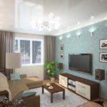 Светлые шторы для гостиной