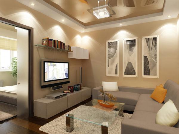 Зонировать пространство легче с точечными светильниками