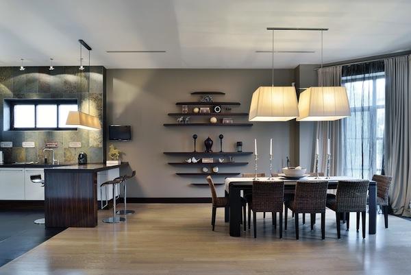 один стиль для кухни и гостиной