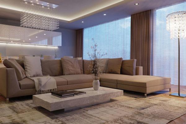 большой угловой диван