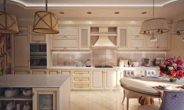 дополнительное освещение кухни гостиной