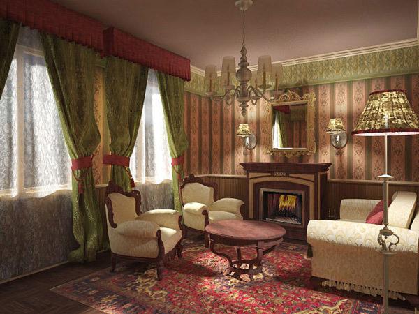 роскошный дизайн комнаты