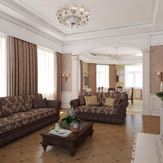 большие коричневые диваны