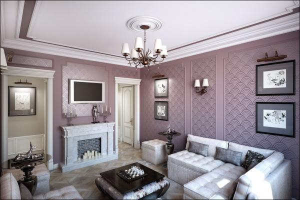игра цвета в дизайне гостиной комнаты