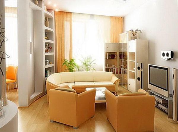 дизайн гостиной небольших размеров